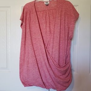 Tops - Women's Faux Wrap Sleeveless T-Shirt SZ XXL